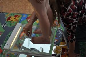 měření délky nohy